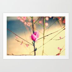 Textured Bloom Art Print