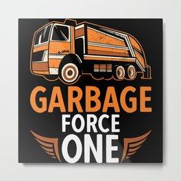 Road Cleaning Garbage Removal Waste Car Metal Print
