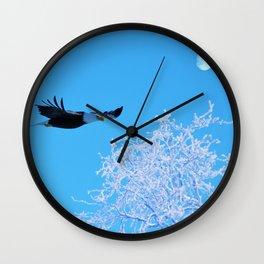 Frosty Flight Wall Clock