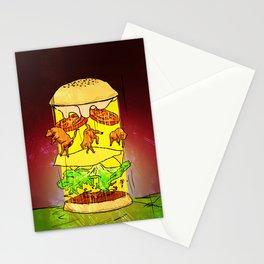 UFO Burger Stationery Cards