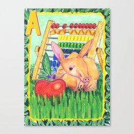 A is for Aardvark Canvas Print