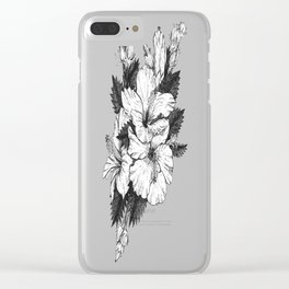 The Chinese Rose & The Tree Frog Clear iPhone Case