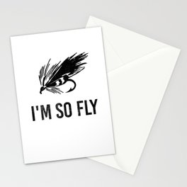I'm So Fly Fishing Hook Flies Fisherman Gift Stationery Cards