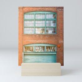 Street photography brick warehouse entrance II Mini Art Print