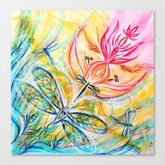 Yellow Fire Spirits Canvas Print