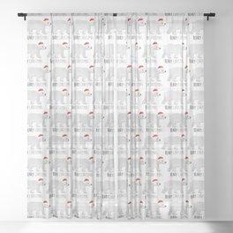 Beary Christmas | Polar Bear Sheer Curtain