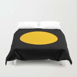 Light in the Dark | Yellow Circle Duvet Cover