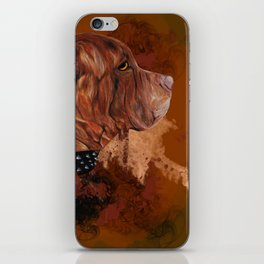 Dog drawing iPhone Skin