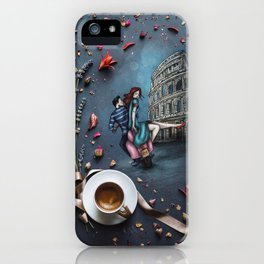 Little Coffee story in Rome iPhone Case