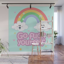 Go Fuck Yourself ;) (mint) Wall Mural