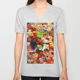 Street Fighter Alpha - Fight! Unisex V-Neck