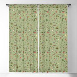 Camping Campsite Outdoor Adventures Pattern Blackout Curtain