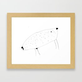 Cow lady is crazy Framed Art Print