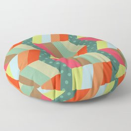retro pattern and observatory 1 Floor Pillow