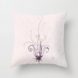 Whimsical Wilde Flower Throw Pillow