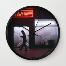 Neon lights of Soho Wall Clock