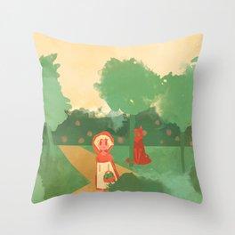 Little Red (Ver 2) Throw Pillow