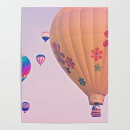 Colorful Hot Air Balloons Poster