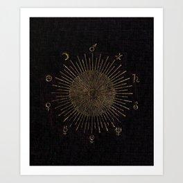 Astronomy Symbols Art Print