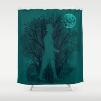 human Shower Curtains featuring Human Nature by dan elijah g. fajardo