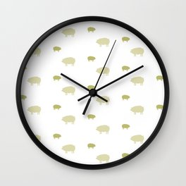 PIG PATTERN Wall Clock