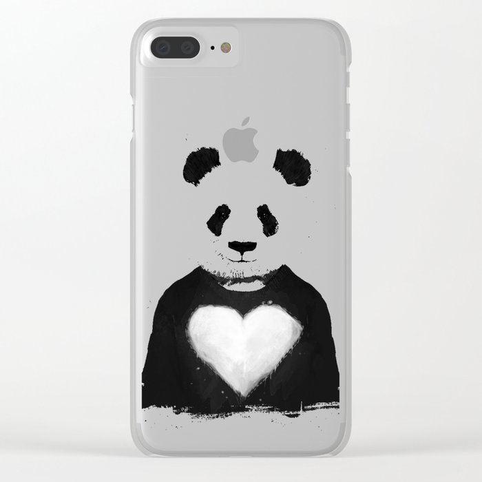 Lovely panda Clear iPhone Case