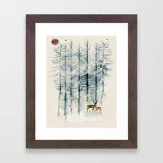 the blue forest Framed Art Print