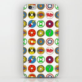 Superhero Donuts iPhone Skin