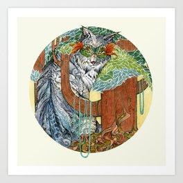 Masked Lynx Art Print
