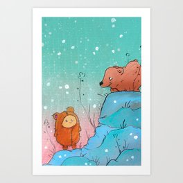 The Grizzly Man (adorable version) Art Print