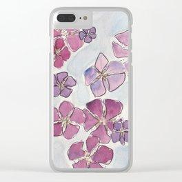 Maine Sand Dollars - Purple Tones Clear iPhone Case