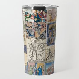 People Getting Stabbed in Medieval Manuscripts Travel Mug