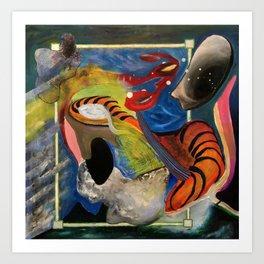Landscape 3000 (oil on canvas) Art Print