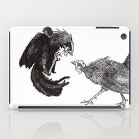 cock iPad Cases featuring Cock Fight by Kayla Lane Burdon