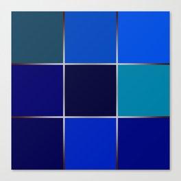 Cobalt , patchwork Canvas Print