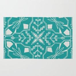 Turquoise Batik Rug