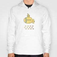 yellow submarine Hoodies featuring Yellow Submarine by Brenda Figueroa Illustration