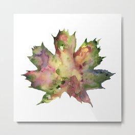 Leaf Meditation Metal Print