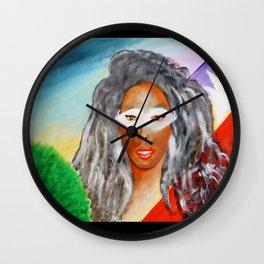 EBONY SWAN Wall Clock