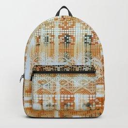 needlepoint sampler in sunny rays Backpack