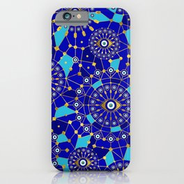 Evil Eye Charm Ornament Pattern iPhone Case