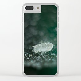 feather on spider net Clear iPhone Case