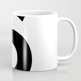 Number 6 (Black & White) Coffee Mug