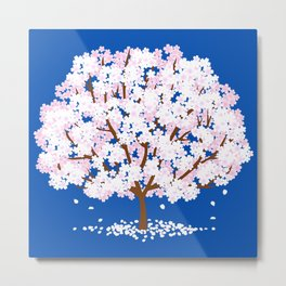 a cherry blossom tree under the sea Metal Print