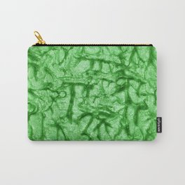 Green Waves and Ripples Textured Wavelet Paint Art Carry-All Pouch