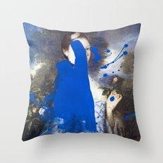 Blue Bomb Throw Pillow