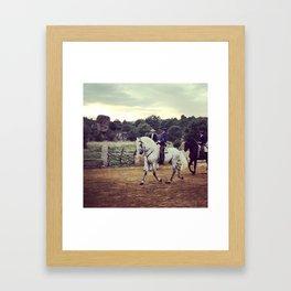 Spanish Horses Framed Art Print