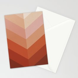 Chevron Geometry 3. Terracotta Stationery Cards