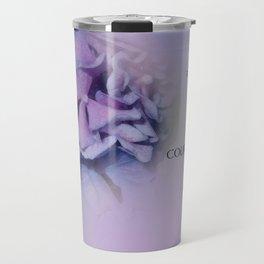 Serenity Prayer Hydrangeas Harmony Lavender Travel Mug