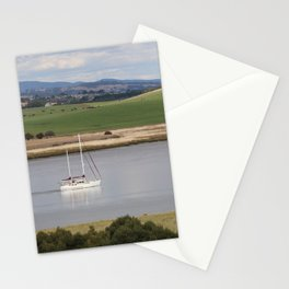 Motoring up River Stationery Cards